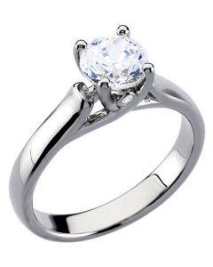 Platinum Woven Solitaire Engagement Ring