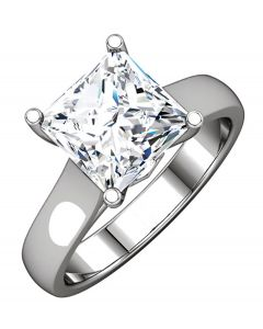 Platinum 4.5mm Cathedral-Style Solitaire Engagement Ring