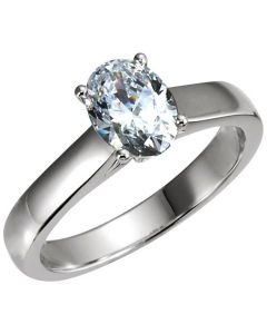 Platinum Cathedral-Style Solitaire Engagement Ring