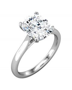 Platinum Antique Cushion Cut Solitaire Engagement Ring Mounting