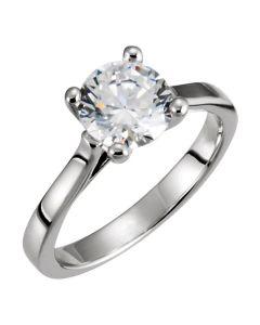 Platinum 7.5mm Solitaire Engagement Ring