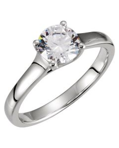 Platinum Engagement Solitaire Ring
