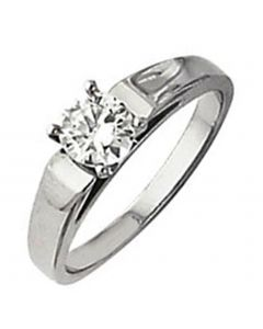 Platinum Cathedral Engagement Ring