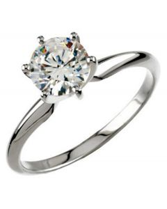 Platinum 6-Prong Solitaire Engagement Ring