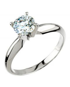 Platinum 4-Prong Solitaire Engagement Ring