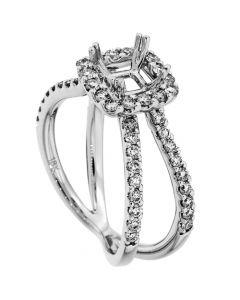 18K White Gold Diamond Ring 14090