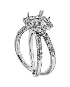 18K White Gold Diamond Ring 14362