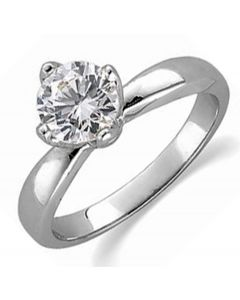 14K Round 4-Prong Tulipset Solitaire Ring