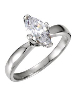 14K Marquise Tulipset Solitaire Ring