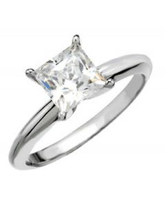 Platinum 4-Prong Solitaire Ring