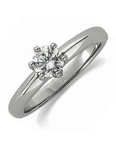 14K Round Low 6-Prong Solstice Solitaire® Ring