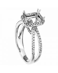 18K White Gold Diamond Wedding Ring 15932