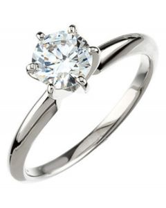 14K Round 6-Prong Comfort-Fit Solitaire Ring