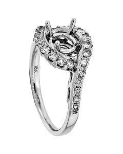 18K White Gold Diamond Ring 17034