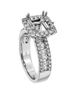 18K White Gold Diamond Ring 17203