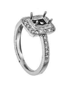18K White Gold Diamond Wedding Ring 17369