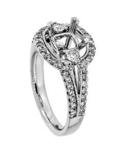 18K White Gold Diamond Ring 17443