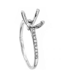 18K White Gold Diamond Ring 18018