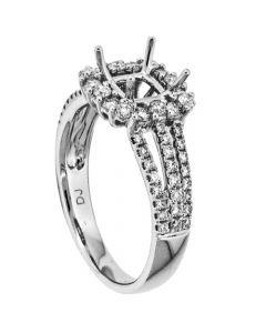 18K White Gold Diamond Ring 18052
