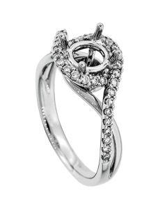 18K White Gold Diamond Ring 18059