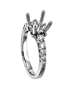 18K White Gold Diamond Wedding Ring 18252