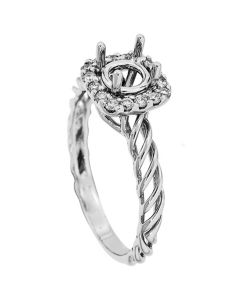 18K White Gold Diamond Ring 18331