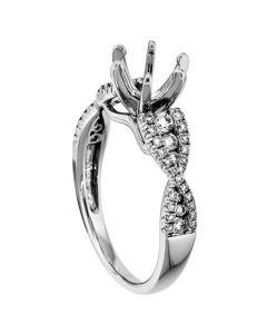 18K White Gold Diamond Ring 18340