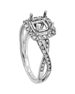 18K White Gold Diamond Ring 18349