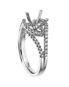 18K White Gold Diamond Ring 18358