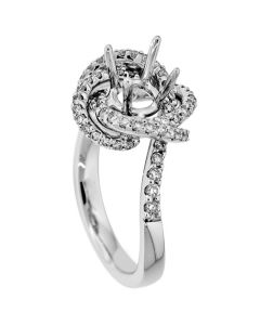 18K White Gold Diamond Ring 18359
