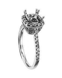 18K White Gold Diamond Ring 18367