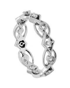18K White Gold Diamond Ring 18440
