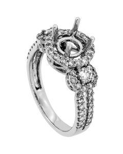 18K White Gold Diamond Ring
