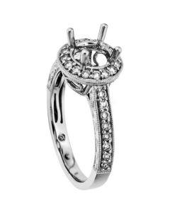 18K White Gold Diamond Ring 18726