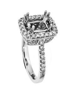 18K White Gold Diamond Ring 18817