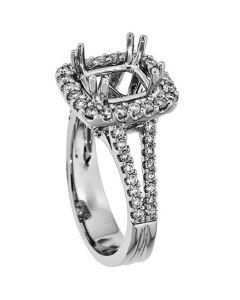 18K White Gold Diamond Ring 18820