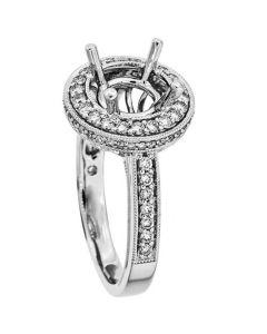 18K White Gold Diamond Ring 18821
