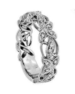 18K White Gold Diamond Band 18854