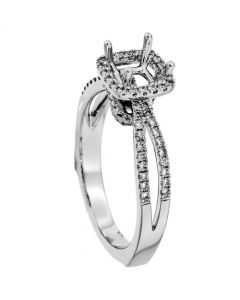 18K White Gold Diamond Ring 18890