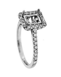 18K White Gold Diamond Ring 18918