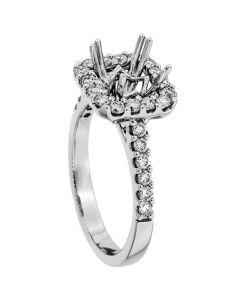 18K White Gold Diamond Ring 18924
