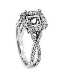 18K White Gold Diamond Ring 18933