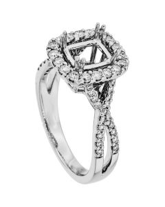 18K White Gold Diamond Ring 18940