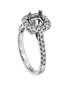 18K White Gold Diamond Ring 18946