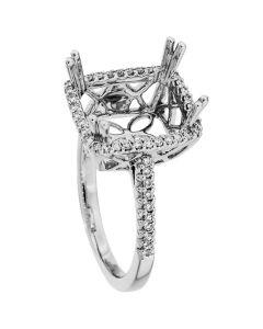 18K White Gold Diamond Ring 18950