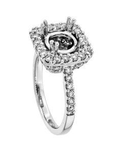 18K White Gold Diamond Ring 18974