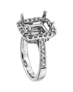 18K White Gold Diamond Ring 19061