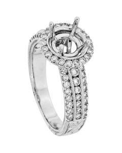 18K White Gold Diamond Ring 19069