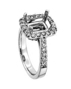 18K White Gold Diamond Ring 19070