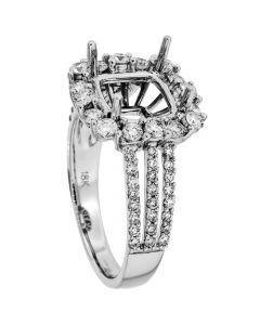 18K White Gold Diamond Ring 19072